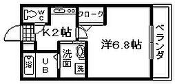 セジュール加守田SE[1号室]の間取り