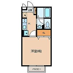 エクセレントタウン・村井A[1階]の間取り