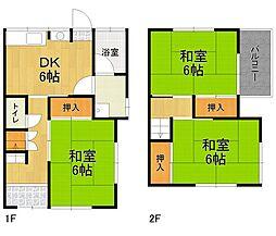 [テラスハウス] 兵庫県伊丹市御願塚3丁目 の賃貸【/】の間取り
