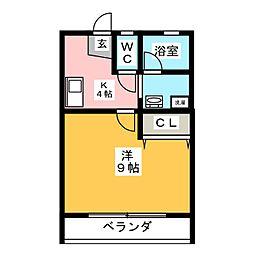 ソワサント飯田[1階]の間取り