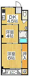 コーポ西浦[3階]の間取り
