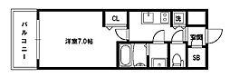 リッツ新大阪[4階]の間取り