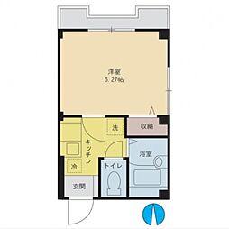フォレスト清山[1階]の間取り