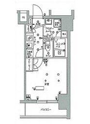 東京メトロ南北線 東大前駅 徒歩8分の賃貸マンション 6階1Kの間取り