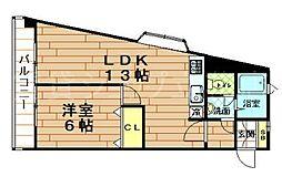 アーネスト武庫川[1階]の間取り