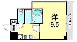 グランツアリタ日本橋 10階1Kの間取り