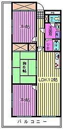 サニーフラット南浦和[1階]の間取り