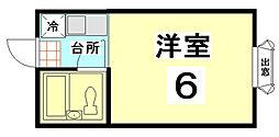 サニーハイツ[103号室]の間取り