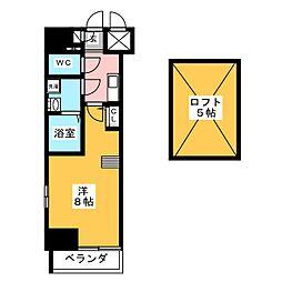 エステムコート名古屋栄デュアルレジェンド[11階]の間取り
