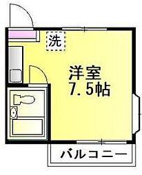 神奈川県相模原市南区若松4丁目の賃貸アパートの間取り