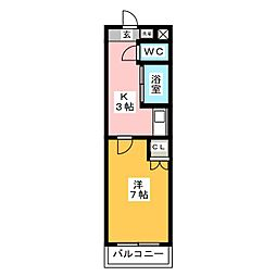 mt.cedar room[2階]の間取り