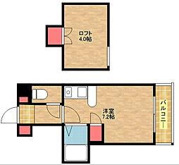 コスモレジデンス北加賀屋II[5階]の間取り