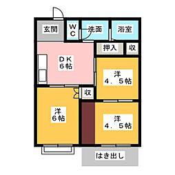 コーポマリン橋本[2階]の間取り