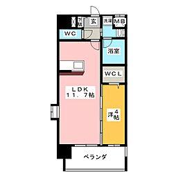 エルミタージュ桜山[7階]の間取り
