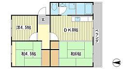 こいでマンション[202号室]の間取り