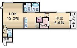 クレールコート[3階]の間取り