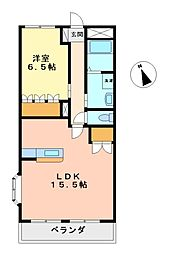 愛知県名古屋市西区南堀越2丁目の賃貸マンションの間取り