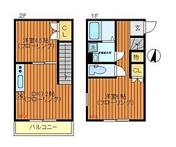 [テラスハウス] 東京都三鷹市牟礼7丁目 の賃貸【/】の間取り