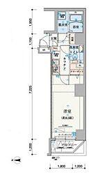 リヴシティ上野入谷[502号室]の間取り