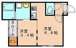 フェリーチェ3[1階]の間取り