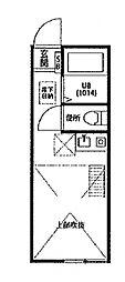 ミルフルール西横浜[2階]の間取り