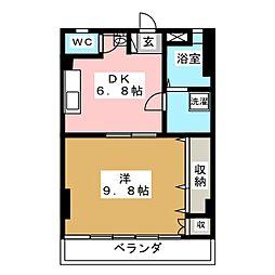 アツミコーポ[2階]の間取り