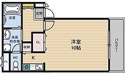 リッツパイン[1階]の間取り