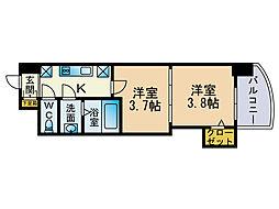 アリビオ博多駅北[11階]の間取り