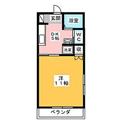 レスコハウスヤマシタ[2階]の間取り