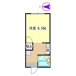 NOAHIII 2階ワンルームの間取り