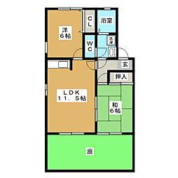 フォーラムIIIA棟[1階]の間取り