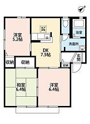 三洋タウン永犬丸 B棟[1階]の間取り