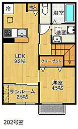 オーパス3[2階]の間取り