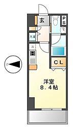 レジディア栄(旧グレイスガーデン栄イースト)[8階]の間取り