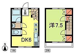 [一戸建] 東京都杉並区梅里1丁目 の賃貸【/】の間取り