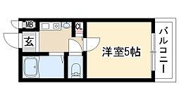 愛知県名古屋市天白区御前場町の賃貸マンションの間取り