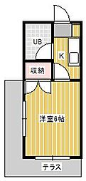 ヒルトップ新松戸I[2階]の間取り