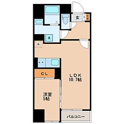 仙台市地下鉄東西線 青葉通一番町駅 徒歩9分の賃貸マンション 4階1LDKの間取り