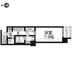 レジデンス京都ゲートシティ207[2階]の間取り