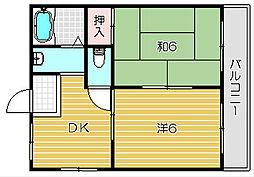 コーラルハイツ[2階]の間取り