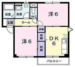 サンハイツ尾崎[1階]の間取り