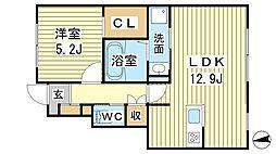 仮称)豊田様新築工事 B棟[1階]の間取り