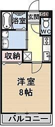 ファミリーセブン[103号室号室]の間取り