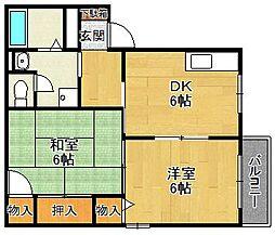 マニャーナ夙川[103号室]の間取り