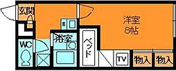 奈良県生駒郡斑鳩町法隆寺西3丁目の賃貸アパートの間取り