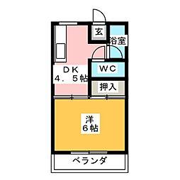 グリーンハイツ加藤[2階]の間取り