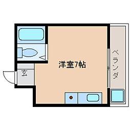 奈良県天理市勾田町の賃貸マンションの間取り