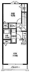 サライ[206号室]の間取り