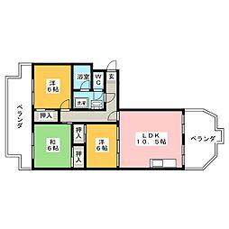上前津中央マンション805[11階]の間取り