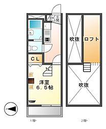 レオパレスグランドール[3階]の間取り